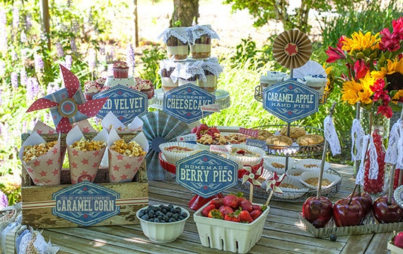 Vintage Style Fouth of July Party Kit