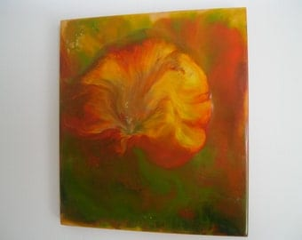 Original Encaustic Painting - Flower 2