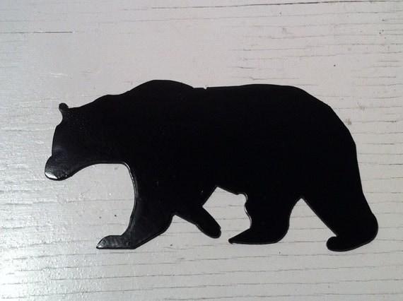 6 inch black bear metal steel wall art ornament craft sign stencil