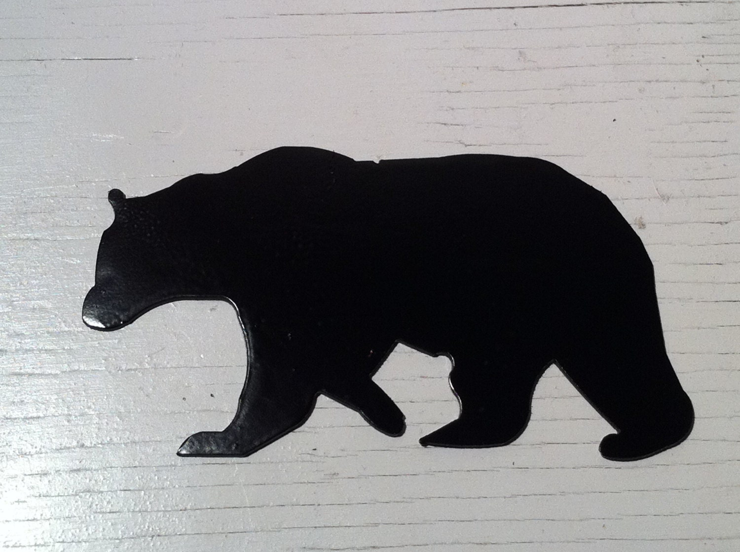 Bear Wall Art 6 inch black bear metal steel wall art ornament craft sign