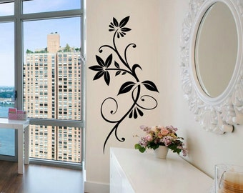 Vinyl Wall Decal - Floral wall decal ornament WT001