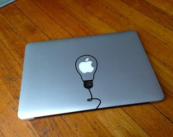 Macbook Decal light bulb decal Macbook Stickers decal laptop decal iPad decals for macbook 022