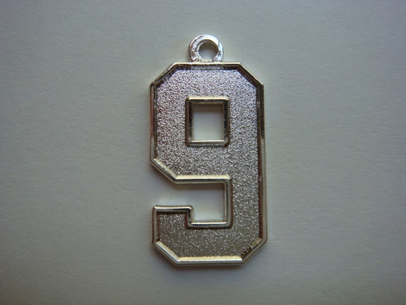 Number 9 Jersey Style Sports Necklace Charm Pendant 0 8
