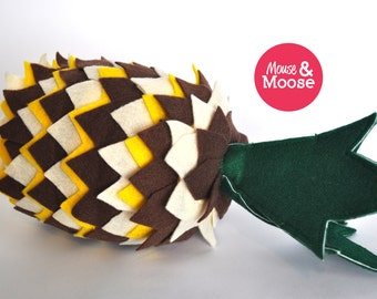 Eco Friendly 100% Wool play Pineapple, felt food, play kitchen, play food, wool felt play food, felt pineapple, pretend play, accessory