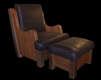 Reclaimed Wood Idaho Club Chair