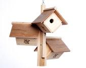 Cedar Wren / Verio Warbler Nesting Box Handmade Birdhouse