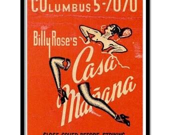 """Vintage illustration Casa Manana - 8"""" x 10"""""""