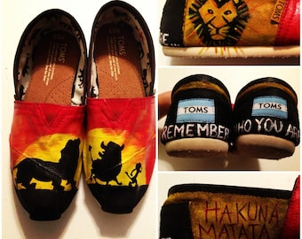 Custom Hand-Painted Lion King Toms Shoes (Shoes NOT Included) aimeeprendergast17