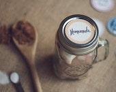 Black & White Gourmet Hot Chocolate Mix, Mason Jar Mug, Culinary Cocoa, Hot Beverage, Black and White Hot Cocoa