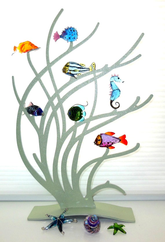 Swarovski Complete Paradise Exotic Fish Collection W Stand