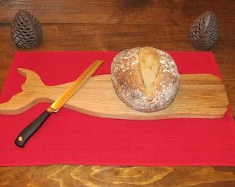 Solid Oak Whale Cutting board, Cheese Board, Serving Board