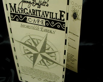 VINTAGE Jimmy Buffett Margaritaville Storyville Tavern, New Orleans - MENU