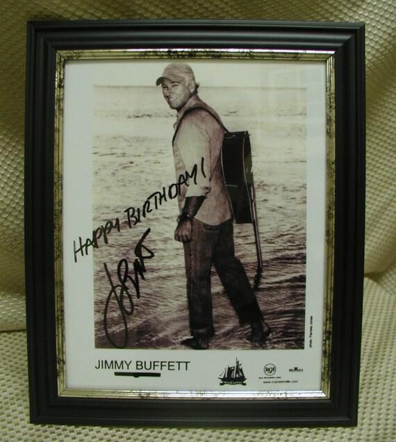 Jimmy Buffett HAPPY BIRTHDAY Framed 8 X 10 Signed Glossy With