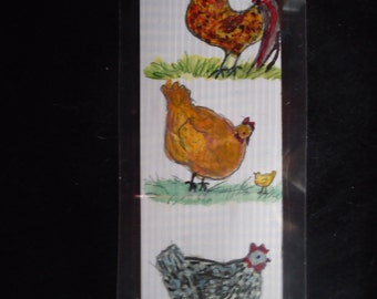 Laminated Chicken bookmark