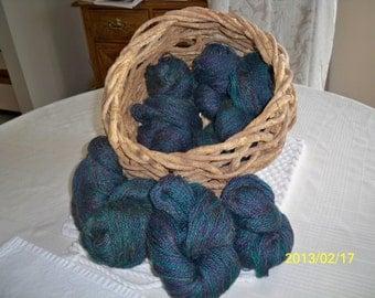 Handspun Yarn - 1 lb, 10  ounces, 2 Ply, 1,871 yards, worsted weight - Royalty - (1) set
