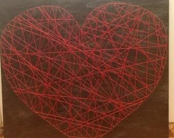 I Heart You String Art