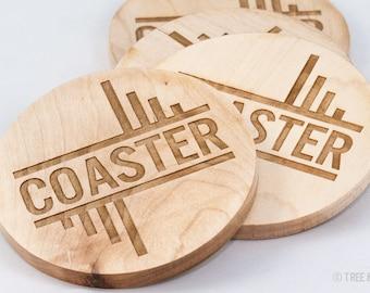 Wood Coasters - Laser Engraved (Coaster)