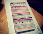 Handmade Aztec design iPhone 4/4S case: made to order, multi-color or black and white