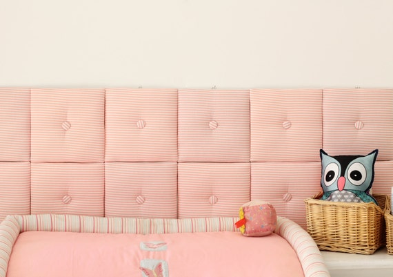 Romantic Soft Pink Headboard / Nursery Decor