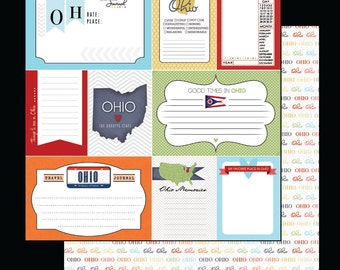 Ohio Journal Cards. Digital Scrapbooking. Project Life. Instant Download.