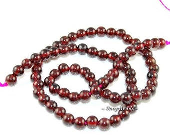 4mm Sangria Red Garnet Gemstone Smooth Round 4mm Loose Beads 16 inch Full Strand (90164676-14)