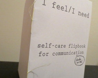 I Feel/I Need Self-Care Flipbook