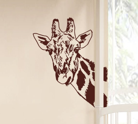 Wall decals, giraffe vinyl wall stickers, kids wall decals - T4