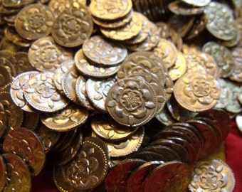 Charles I Half Pennys in pewter.