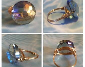 Iridescent Crystal Ring