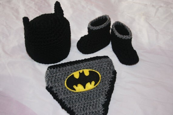 Free crochet pattern batman diaper cover dancox for items similar to 3 piece batman crochet set hat diaper dt1010fo