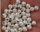 Stardust Beads-4mm round 50 pieces (MW4St)