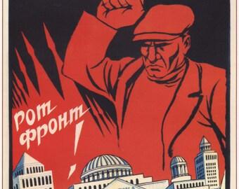 Soviet propaganda, Soviet union, Old poster, 298