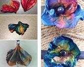 2 Tutorials: Upcycle Tyvek Mailing Envelopes into Flower Shaped AND Heart or Shell Shaped Jewelry Components or Ornaments