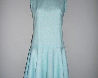Drop Waist Light Blue 1960's Dress