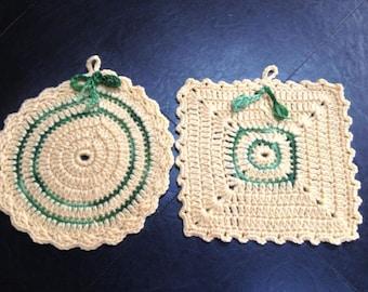 Hand Crochet Pot Holder - BOGO FREE
