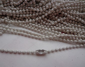 SALE--50 pcs White Ball Chain Necklaces - 27inch, 2.0 mm