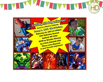 Superhero Invitation, Superhero Party, Marvel Superhero, Superhero Birthday Invite
