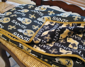 Handmade New Orleans Saints Blanket