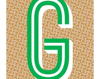 The Letter G, Too - Original Art Print, Typography, Alphabet