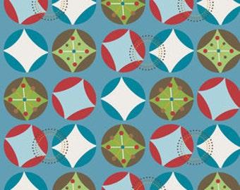 Doohikey Designs for Riley Blake, Hooty Hoot Returns Hoot Starburst Fabric 1/2 Yard