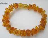 "Baltic Amber Baby Teething Bracelet Anklet -- ""The Sunrise"" FREE SHIPPING"