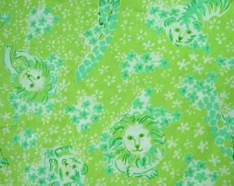 Lilly Pulitzer Fabric Zoobilee  17 x 21 inches