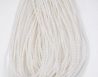 2mm Czech Glass Pearl - 70400 White x 300pcs