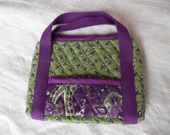 colorful, 100% cotton, Minature handbag, purse, mini-ipad, tote, Kindle, tablet, nook