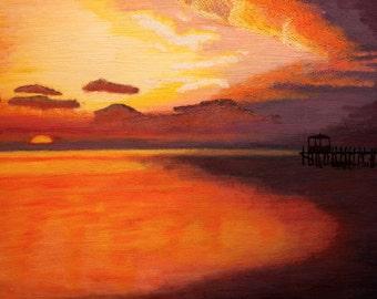 Tropical Sunset - 11 x 14 (Print)