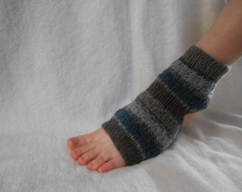 Custom size women's Blue & Brown Yoga Socks