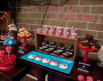 Mix and Match Collection for a Pirate Birthday Party / Pirate Party / Choose any 4 of the 10 items