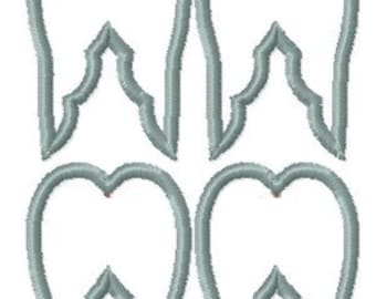 Instant download Machine Embroidery angel wing finish links