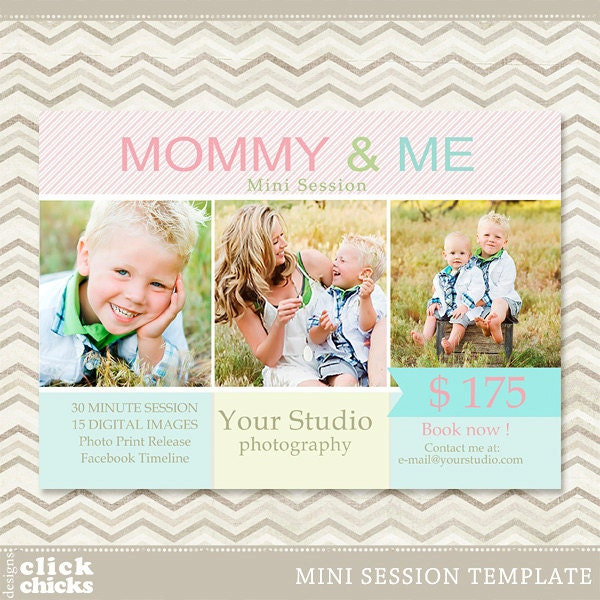 Mini Session Mommy & Me Photography Marketing Template 006