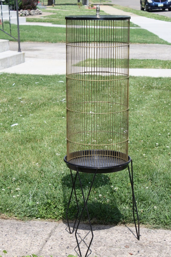Vintage Eames Style Bird Cage Hairpin Base Mid By